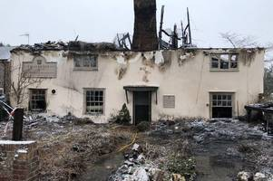 owners of fire-ravaged pub determined to see it rise from the ashes
