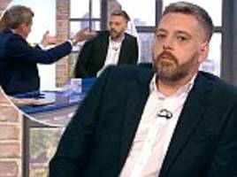 furious iain lee storms off live chat show the wright stuff