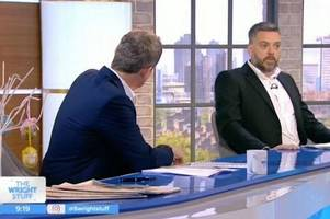 'f*** off' - iain lee storms off the wright stuff after explosive row with matthew wright