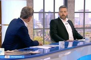 the wright stuff sees iain lee storm off after heated 'f*** off' row with host