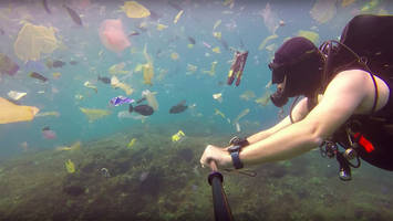 Video Shows Popular Dive Spot in Bali Inundated With Trash - Manta Point near the island of Bali was not so idyllic on this day.