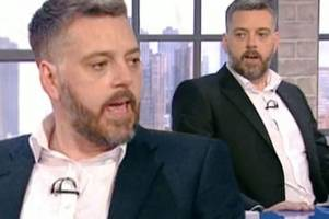 iain lee reveals why he stormed off the wright stuff over divorce questions