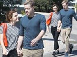 emma watson holds hands with glee's chord overstreet