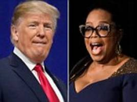 trump says oprah would find it 'painful' running against him