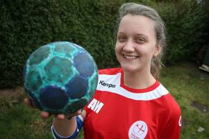 Aspley teenager is raising money to 'achieve her dream' of getting into the GB handball squad
