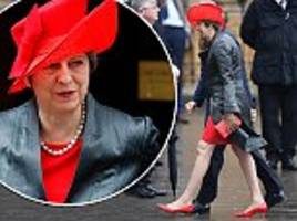 theresa may opted for vibrant red at the commonwealth day service