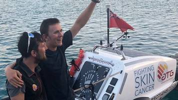 'Ocean Brothers' complete 3,000 mile row across Atlantic