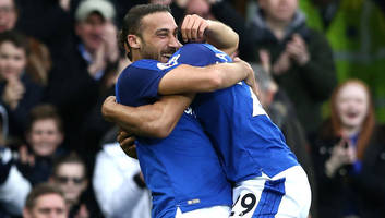 everton striker cenk tosun reveals how the rain helped secure his first goodison park goal