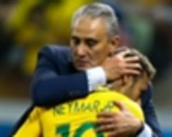 brazil boss tite won't take neymar risks despite world cup pressure