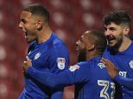 brentford 1-3 cardiff: kenneth zohore seals comeback victory