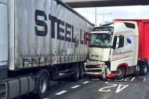 M25 Dartford Crossing picture shows aftermath of crash that closed road