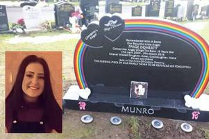paige doherty's headstone unveiled as heartbroken mum pamela munro reveals 'it was a day i hadn't wanted to face'