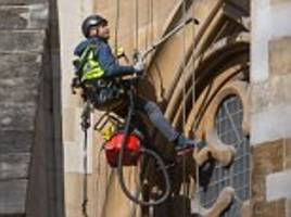 henry the hoover lends a hand cleaning westminster abbey