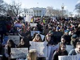 us students participate in mass walkout to support gun control