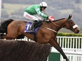 presenting percy comes from behind to take rsa steeple chase win