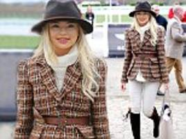 Georgia Toffolo steps out at Cheltenham Ladies' Day