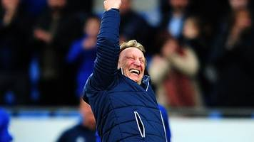 cardiff city: warnock says promotion pressure is on rivals