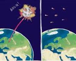 Russian physicists make toy asteroids and blast them with a laser