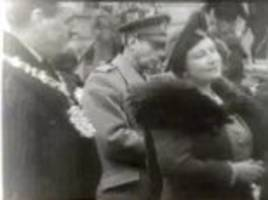 king george vi and the queen mother visit wwii luftwaffe attack site