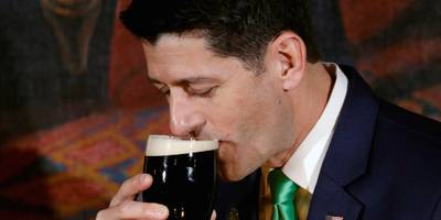 paul ryan jokes that guinness beers taste better in ireland, but 'this isn't the year to bring up trade issues'