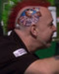 peter wright hair: pics of darts star paying unique tribute to bullseye legend jim bowen