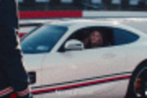 Gigi Hadid scares Lewis Hamilton in the AMG GT, then roles are reversed