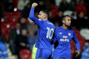 cardiff city striker relishing 'massive' game at derby county