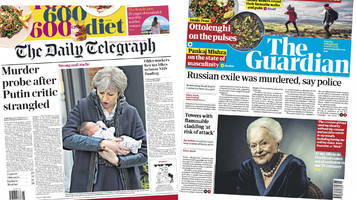 newspaper headlines: russian exile killed and high-rise attack fear