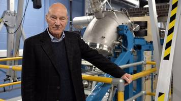 sir patrick stewart launches £3.5m particle accelerator