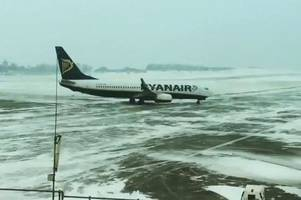 flights from bristol airport at risk of cancellation or delays due to snow weather warning