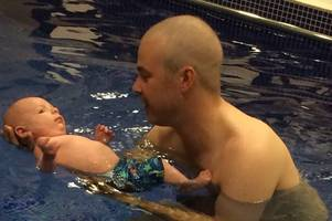 gloucestershire man finds out he has cancer just a day before his son is born