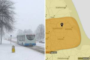 weather warning upgraded to amber level as heavy snow expected to fall in scunthorpe
