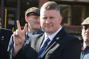 britain first leader paul golding has had his 'nose broken' in sheppey prison