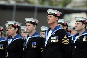 an impressive military parade will march through in swansea this weekend
