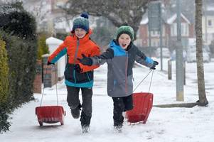 schools in wales warn they are considering closing on monday because of snow
