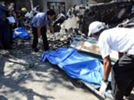 ten are killed after a small plane crashes into a philippines house