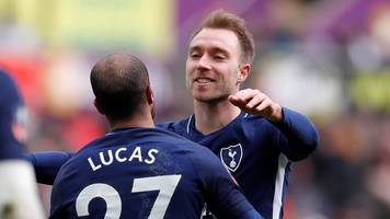 fa cup: second eriksen goal puts spurs in cruise control