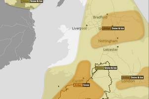 met office expands amber weather warning for bristol until 9pm on sunday