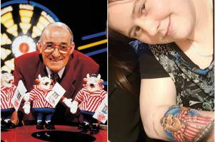 'it was scary' darts fan shocked to find out jim bowen died while she was getting bullseye tattoo