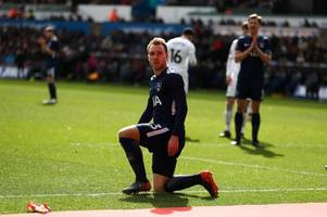 christian eriksen and tottenham hotspur serve swansea city with major warning ahead of relegation battle that is far from over