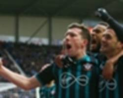 wigan athletic 0 southampton 2: hojbjerg and cedric give hughes first win