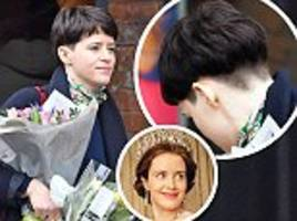 The Crown star Claire Foy shows off her trendy new bowl cut
