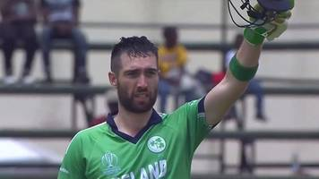 world cup qualifier: ireland's balbirnie hits century in win over scotland