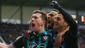 watch: højbjerg puts southampton ahead at wigan