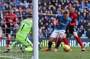 graeme murty defends decision to pick nottingham forest striker jason cummings after rangers lose at home again