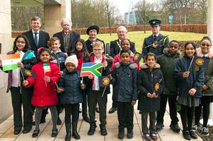 west lothian flies the flag for commonwealth day