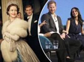 prince harry and meghan markle reportedly watched the crown
