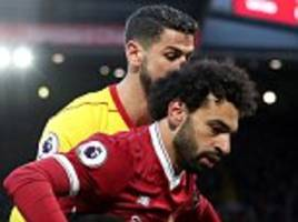 watford's miguel britos wants to forget mohamed salah show asap