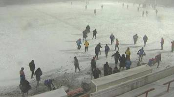 how snow chaos brought wakefield v widnes to an early finish