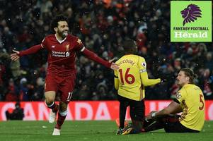 premier league fantasy football: five lessons learned from blank gameweek 31 including record-breaking mo salah, the power of the free hit chip, best players to sell on the wildcard for gw32, unreliable huddersfield, best everton differential